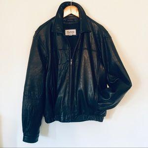 VTG Leather Oversized Bomber